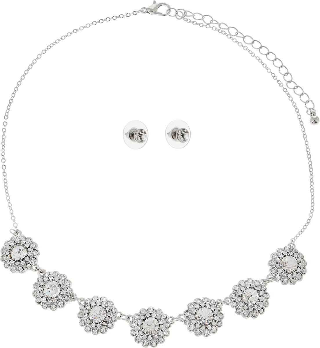 цена на Набор бижутерии женский Taya, цвет: серебристый. T-B-6331-SET-SILVER