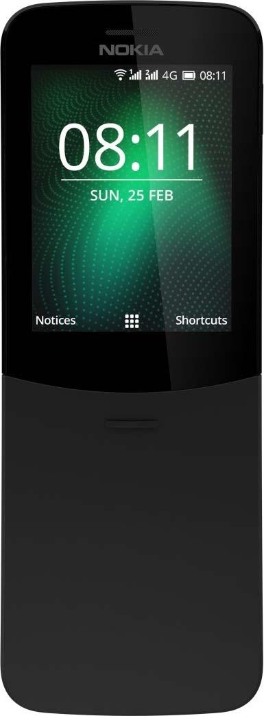 Мобильный телефон Nokia 8110 DS TA-1048, черный телефон 4good s450m 4g