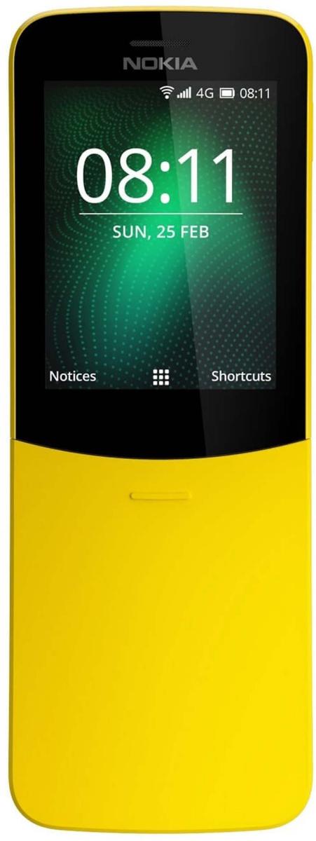 Мобильный телефон Nokia 8110 DS TA-1048, желтый телефон 4good s450m 4g