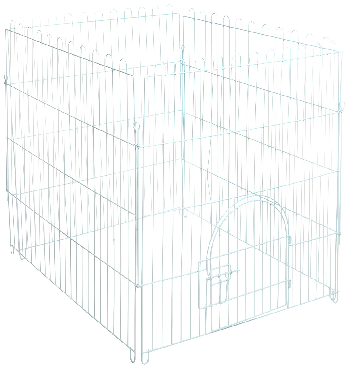 Вольер для животных Triol, цвет: белый, 84 см х 95 см х 84 см развивающий коврик felice волшебный дуб 95 х 95 см