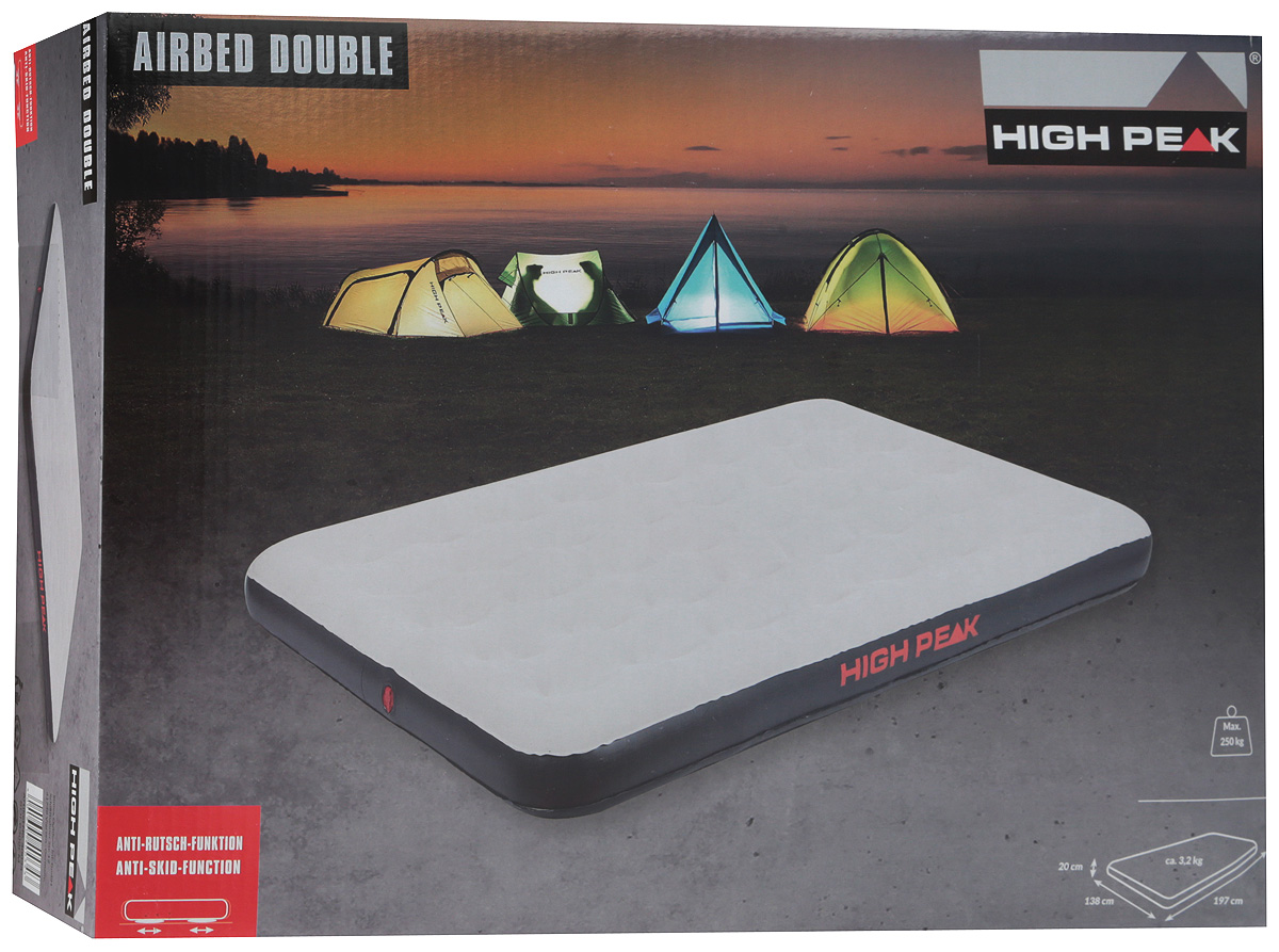 Матрас надувной High Peak Air Bed Double, 197 х 138 х 20 см, до 250 кг. 40034