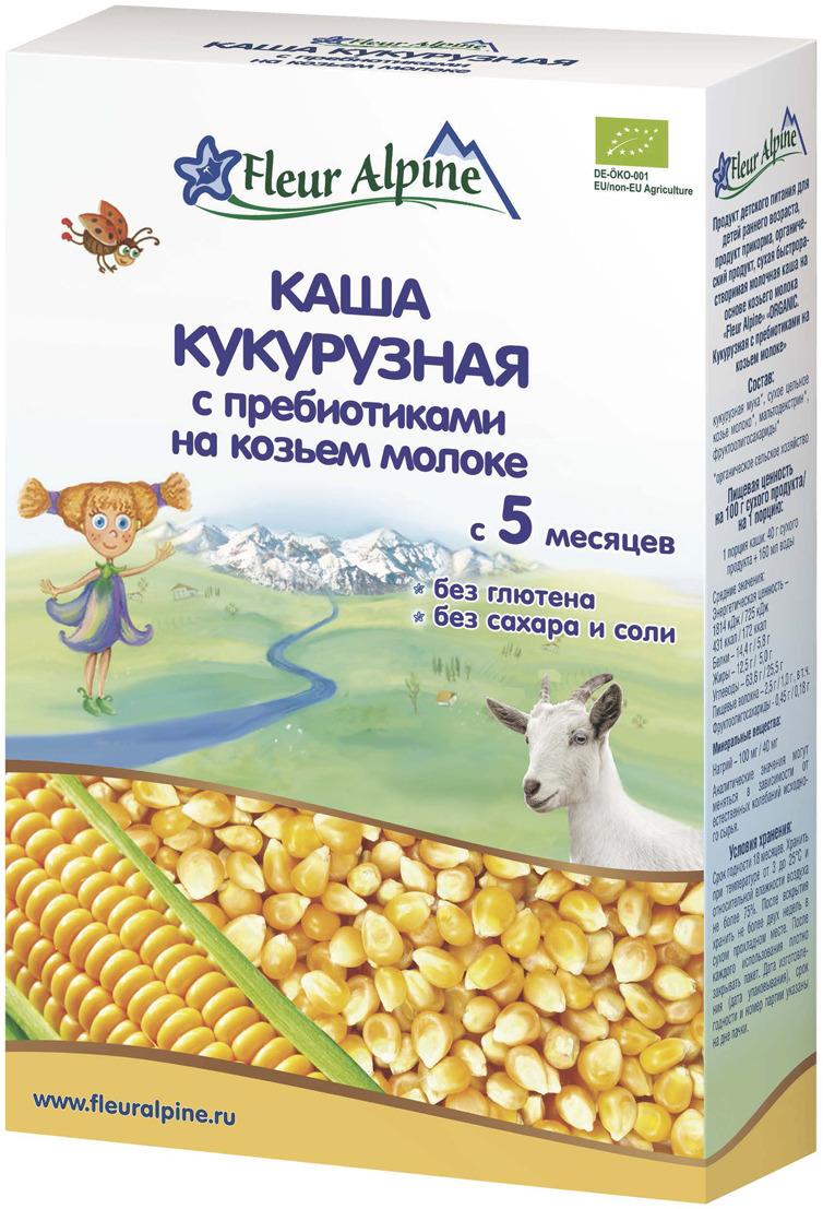 Fleur Alpine Organic каша на козьем молоке кукурузная с пребиотиками, с 5 месяцев, 200 г fleur alpine organic каша на козьем молоке овсяная с 5 месяцев 200 г