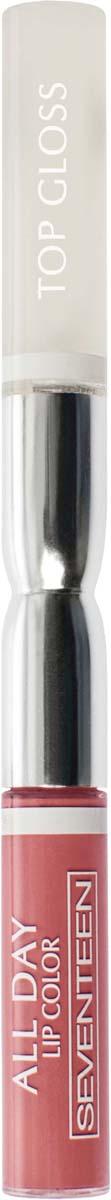 Жидкая губная помада-блеск Seventeen All Day Lip Color&Top Gloss, стойкая, оттенок №01, 3,5 мл