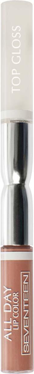 Жидкая губная помада-блеск Seventeen All Day Lip Color&Top Gloss, стойкая, оттенок №02, 3,5 мл помада блеск gloss pomade kis помада блеск gloss pomade