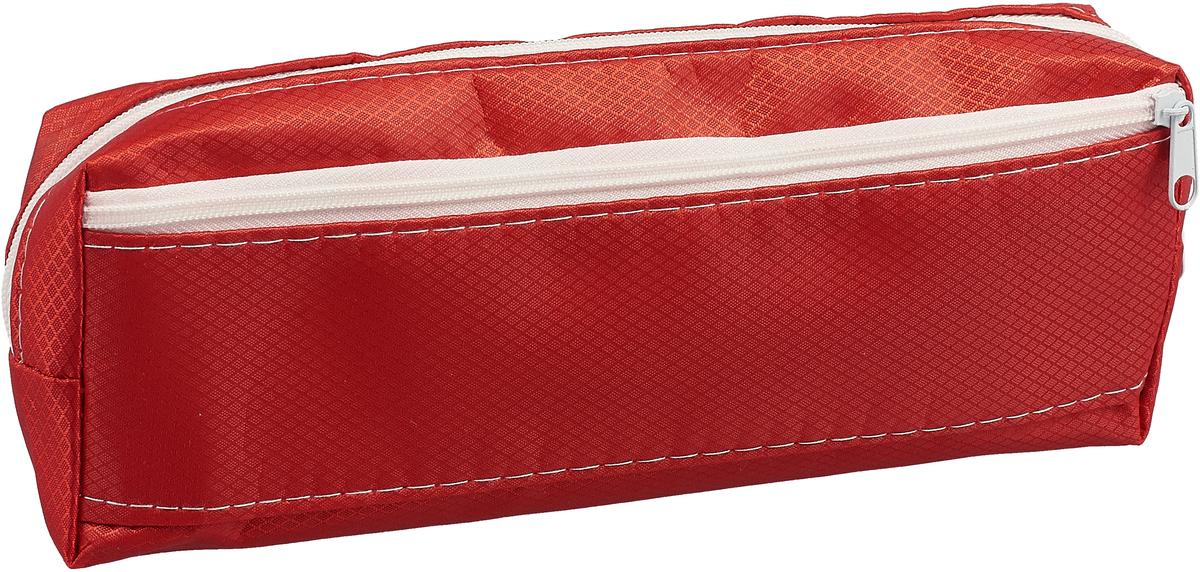 Пенал школьный Calligrata Классика, 2 отделния, цвет: красный. 159155 calligrata маркер перманентный 1104 цвет красный