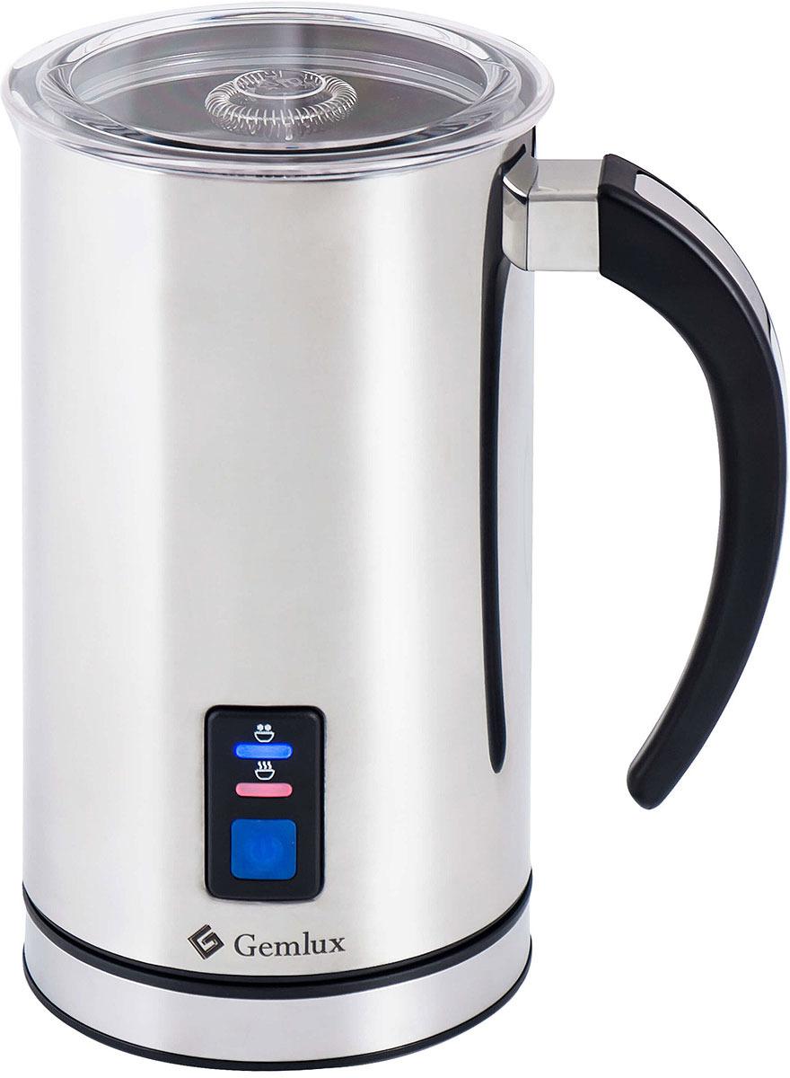 Подогреватель и вспениватель молока Gemlux GL-MF-08L, цвет серебристыйGL-MF-08LПодогреватель и вспениватель молока, настольный, двойные стенки, антипригарное покрытие, крышка из прозрачной пластмассы, нагрев молока 75-500 мл, нагрев и вспенивание молока 75-250 мл, рабочая температура 65оС