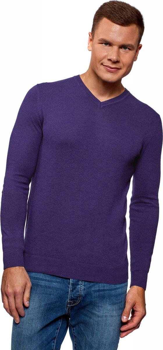 Фото - Пуловер oodji пуловер с v образным вырезом в полоску