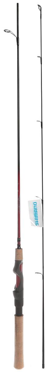 Удилище спиннинговое Shimano Catana EX Spinning, 1-11 г, 1,65 м. SCATEX165UL удилище спиннинговое shimano catana ex spinning 14 40 г 1 8 м scatex18mhj