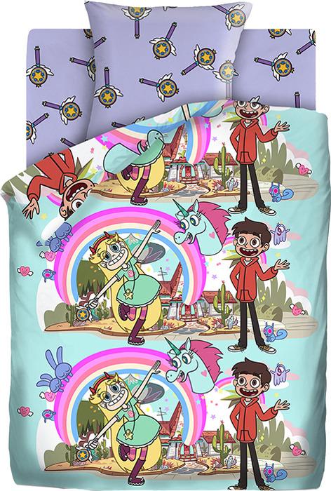 Детский комплект постельного белья Звездная Принцесса Звездная принцесса, 1,5 спальное, наволочка 70х70 доронина е а звездная принцесса и силы зла графический роман выпуск 1