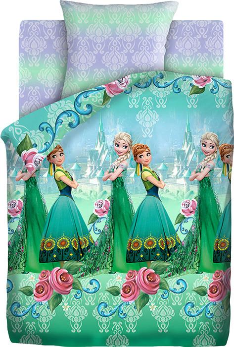 цена Детский комплект постельного белья Холодное сердце