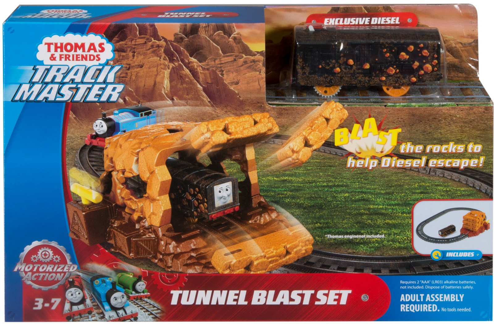 Набор для построения железной дороги 2 в 1 Thomas&Friends Взрыв в туннеле