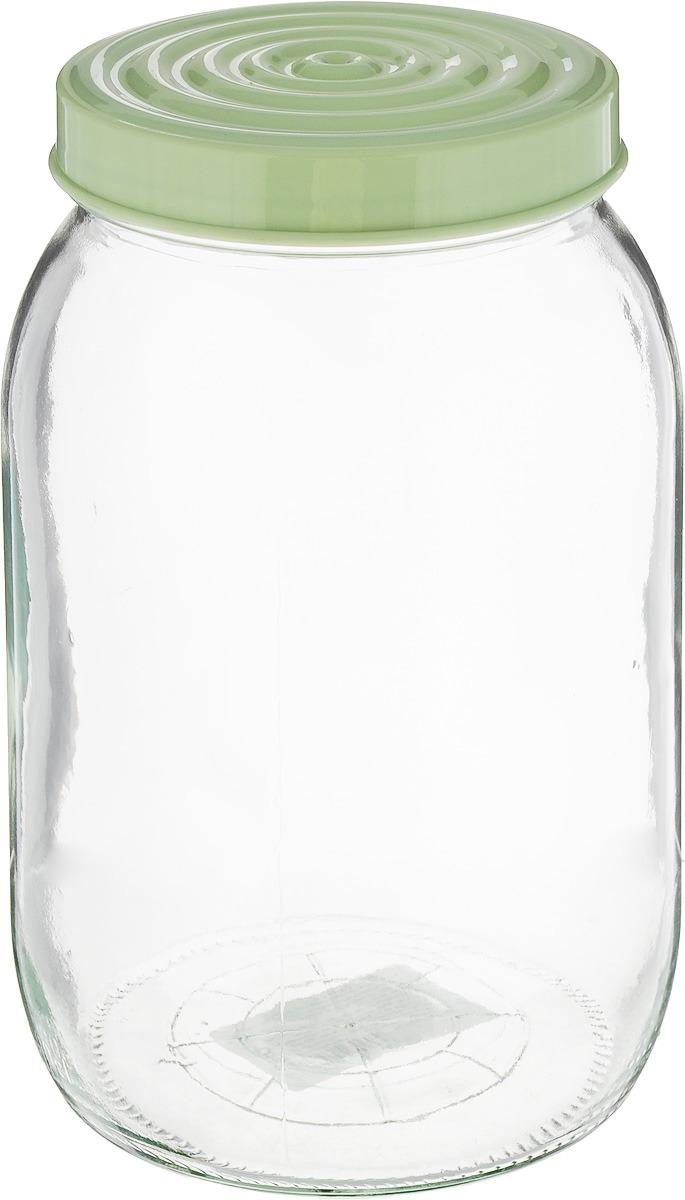 Банка для сыпучих продуктов Herevin, с крышкой, цвет: мятный, 2 л. 140317-500 банка для сыпучих продуктов herevin 1 л 332377 052