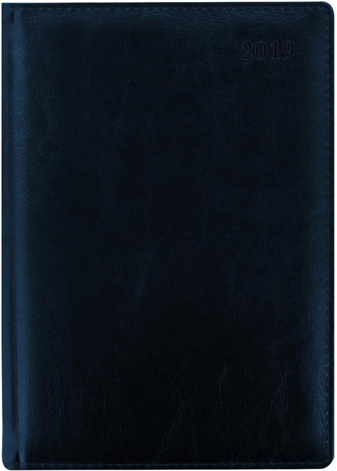 Ежедневник Letts Global Deluxe, датированный, цвет: синий, формат A5, 208 листов, в линейку