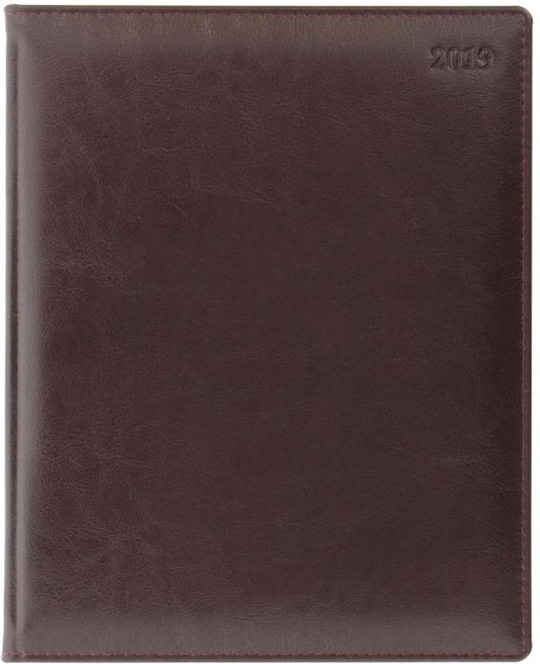Еженедельник Letts Global Deluxe, датированный, цвет: бордовый, A4, 64 листа в линейку ежедневник датированный letts global deluxe a5 натуральная кожа 412127210 822928