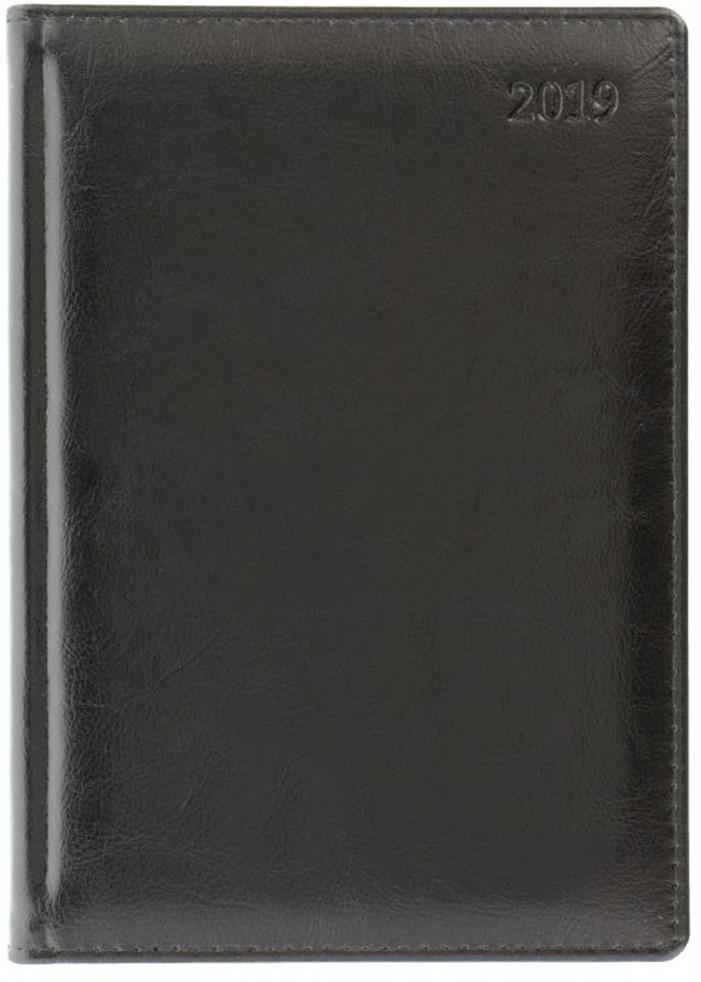 Ежедневник Letts Global Deluxe, датированный, цвет: черный, A5, 208 листов в линейку
