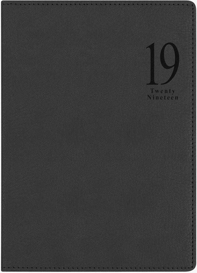Ежедневник Letts Milano, датированный, цвет: черный, A5, 208 листов в линейку