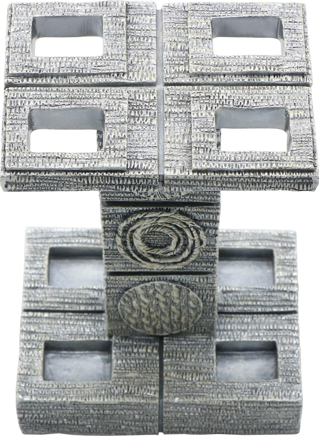 Подставка для зубных щеток Proffi, полистоун, орнамент, серый