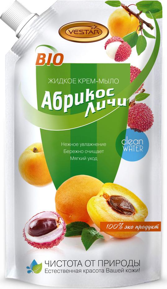 """Жидкое крем-мыло Vestar """"Абрикос и личи"""" , 500 мл"""