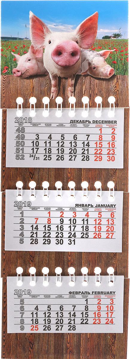 Календарь на спирали микро-трио на 2019 год. Три поросенка календарь на спирали микро трио на 2019 год коты фотосессия