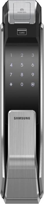 цена на Биометрический дверной замок Samsung SHS-P718 XBK/EN, цвет: серый металлик