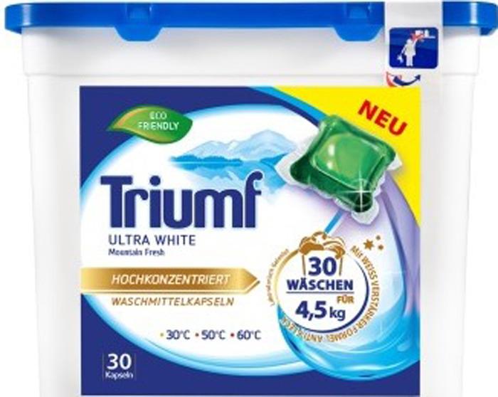 Капсулы для стирки белого белья Triumf White, 30 шт