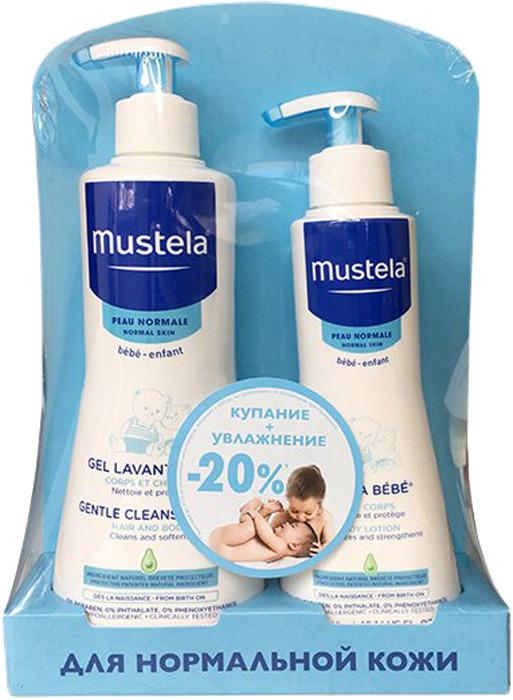 Набор Mustela Bebe Купание + Увлажнение гель, 500 мл + молочко для тела Hydra, 300 мл набор mustela bebe купание увлажнение гель 500 мл молочко для тела hydra 300 мл