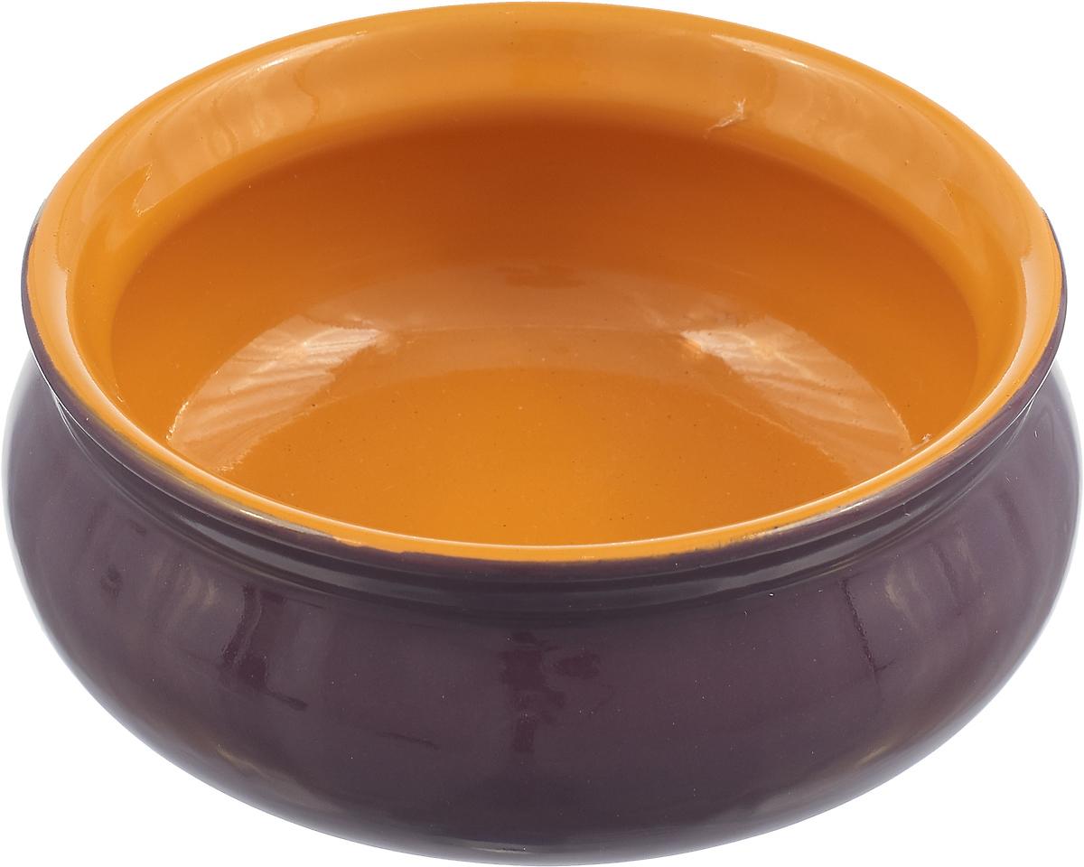 Тарелка Борисовская керамика Скифская, цвет: фиолетовый, желтый, 300 мл тарелка борисовская керамика скифская 300 мл цвет темно желтый сиреневый