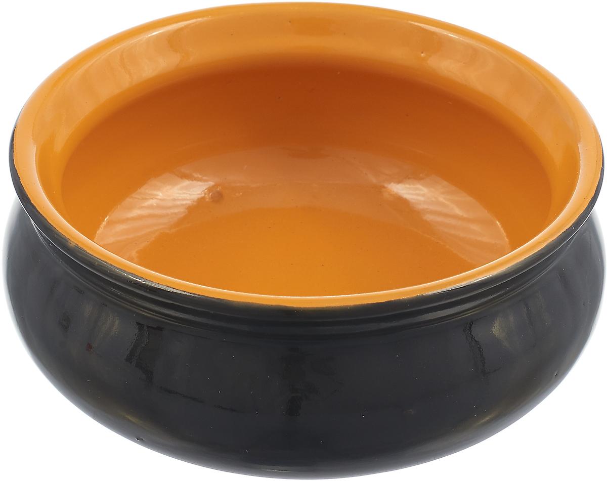 Тарелка Борисовская керамика Скифская, цвет: черный, желтый, 300 мл тарелка борисовская керамика скифская 300 мл цвет темно желтый сиреневый