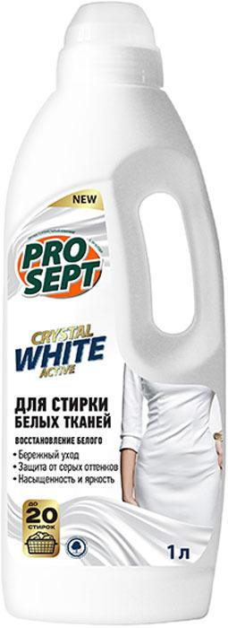 Жидкое средство для стирки белых тканей Prosept Crystal, концентрат, 1 л жидкое моющее средство для стирки flat automat с ароматом свежести 1 кг