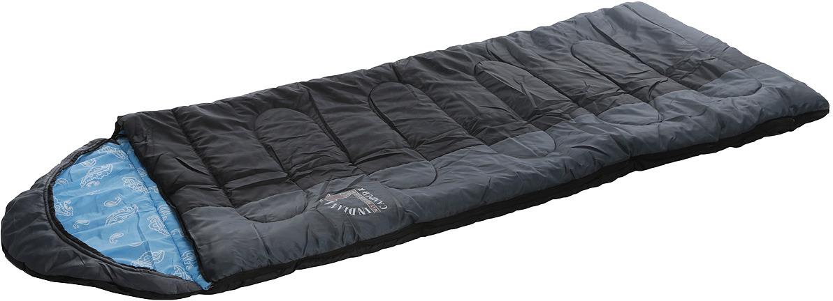Спальный мешок Indiana Camper, правая молния, цвет: голубой, черный, 195 х 35 х 90 см