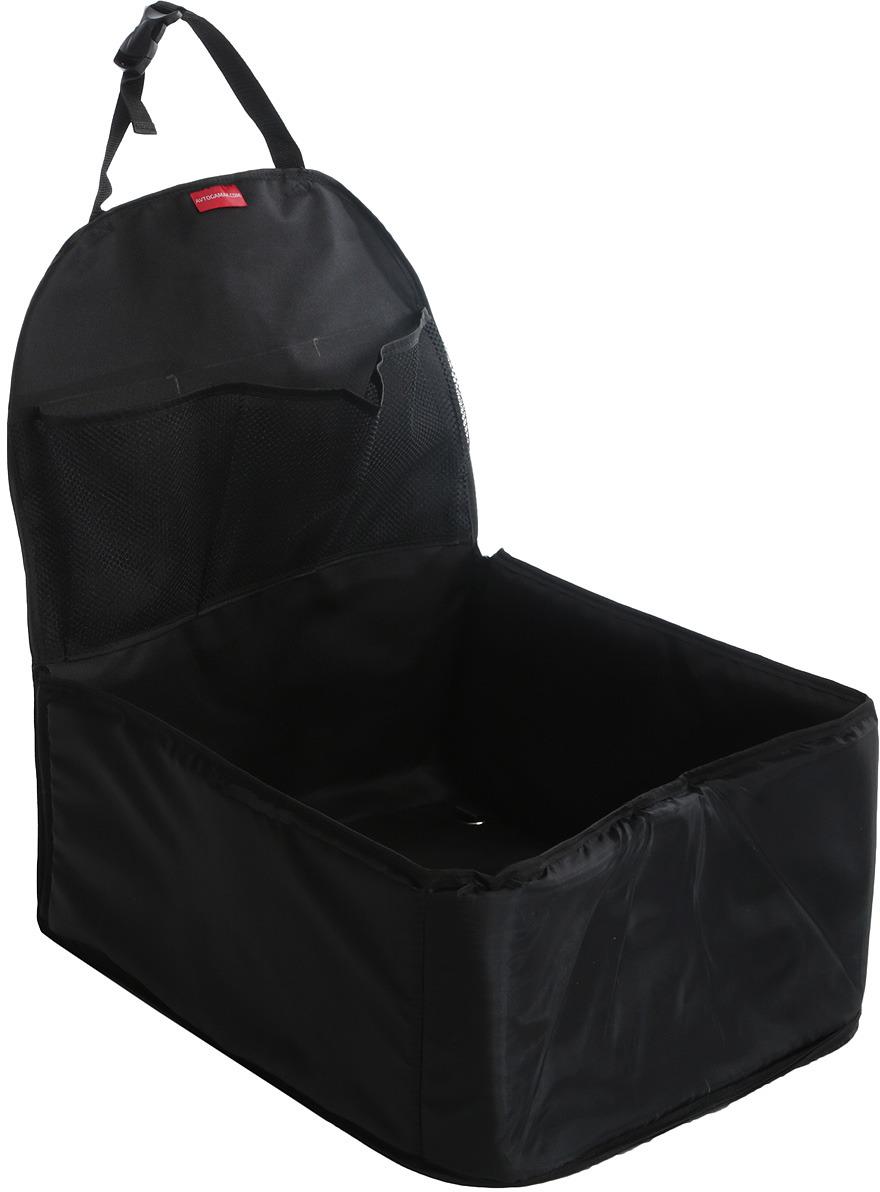 Автогамак на переднее сиденье Auto Premium, для перевозки некрупных животных, цвет: черный. 77114 автогамак auto premium для перевозки некрупных собак