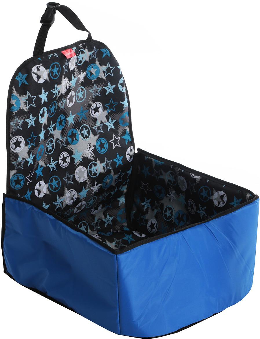 Автогамак на переднее сиденье Auto Premium, для перевозки некрупных животных, цвет: синий. 77132 автогамак для для перевозки собак auto premium на переднее сиденье 77048
