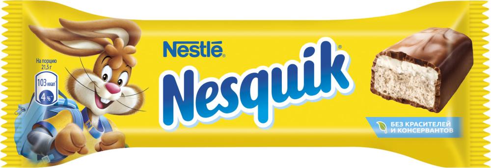 Батончик с какао нугой Nestle Nesquik, 43 г nestle 900