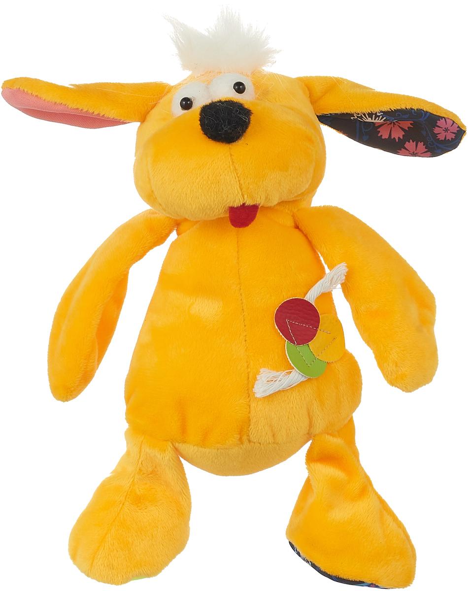 Игрушка для собак GLG Плюшевый барбос, цвет: желтый, длина 28 см копилка барбос