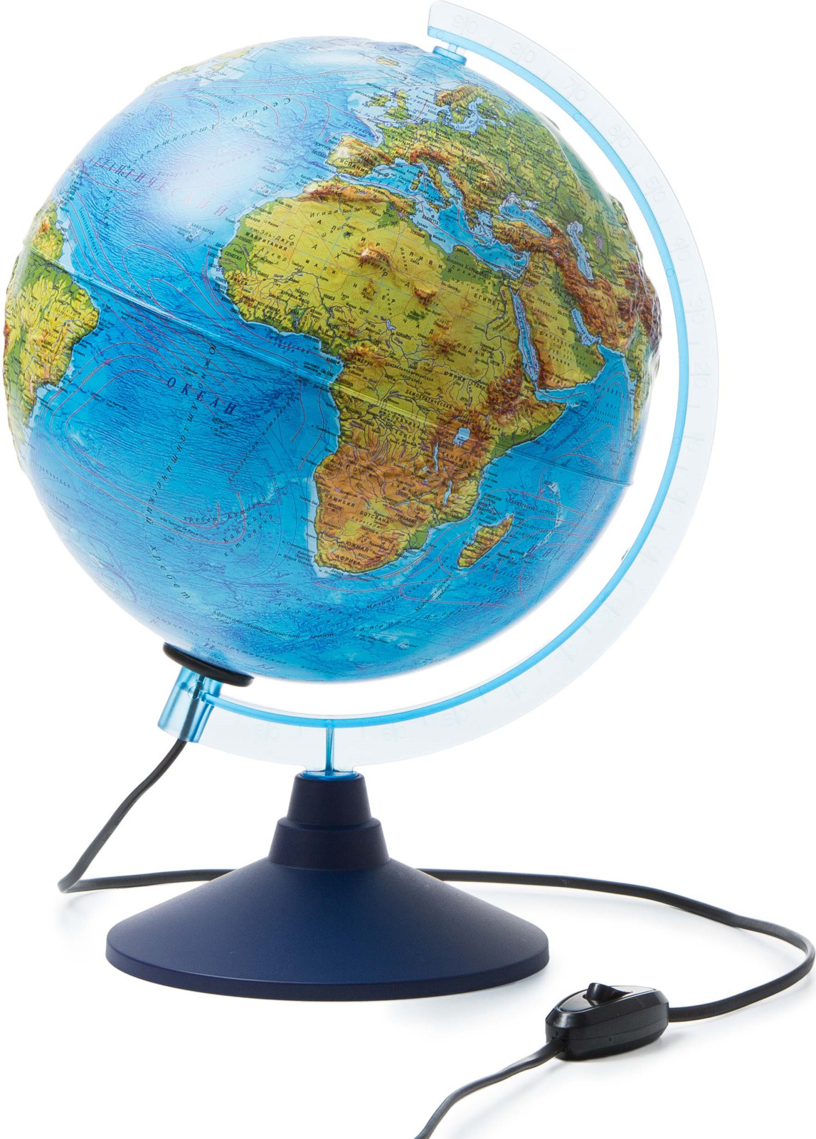 Globen Глобус Земли физико-политический рельефный с подсветкой диаметр 250 мм globen глобус земли globen физико политический с подсветкой 320мм