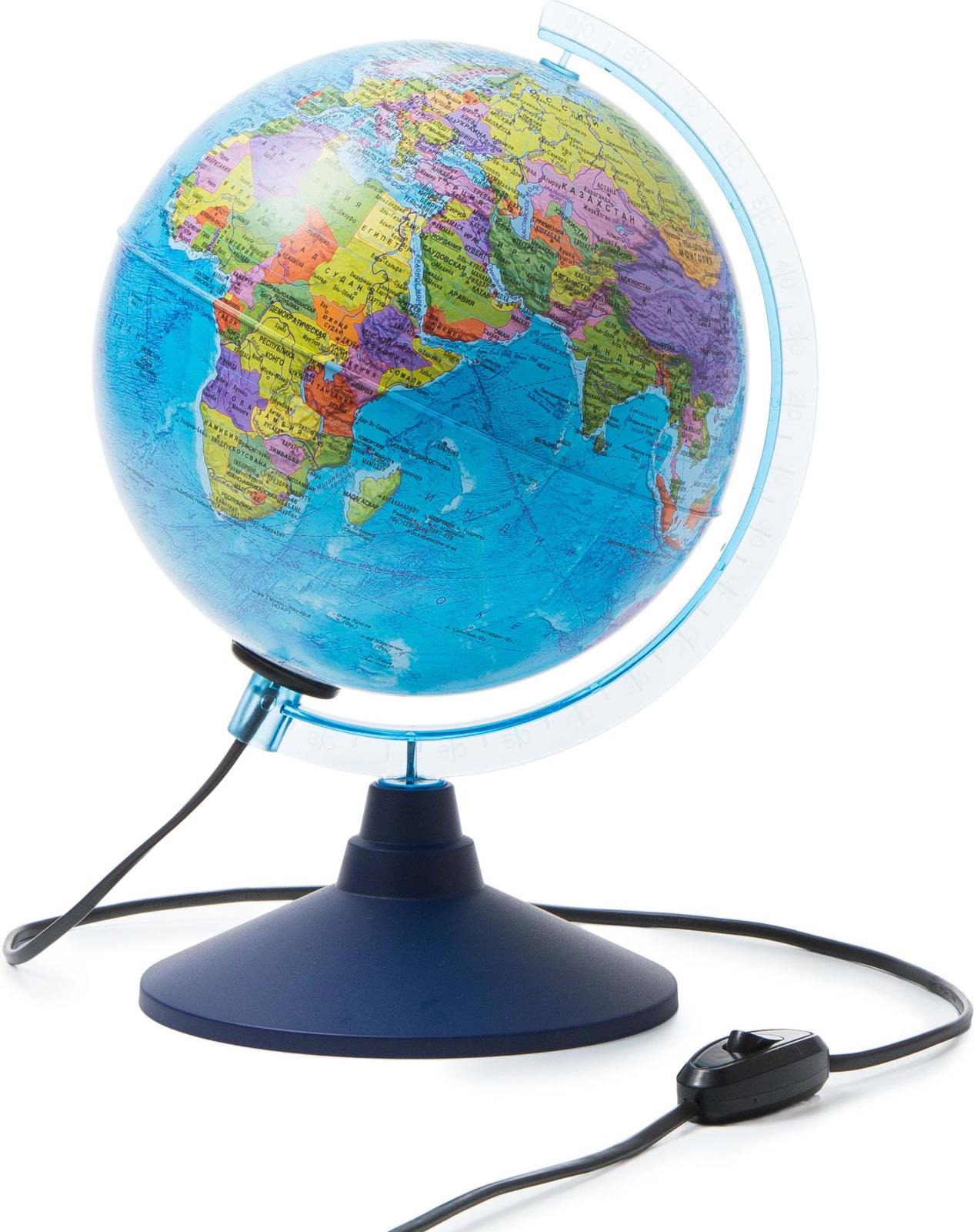 Globen Глобус Земли политический с подсветкой диаметр 210 мм Ке012100180 бемби dvd книга