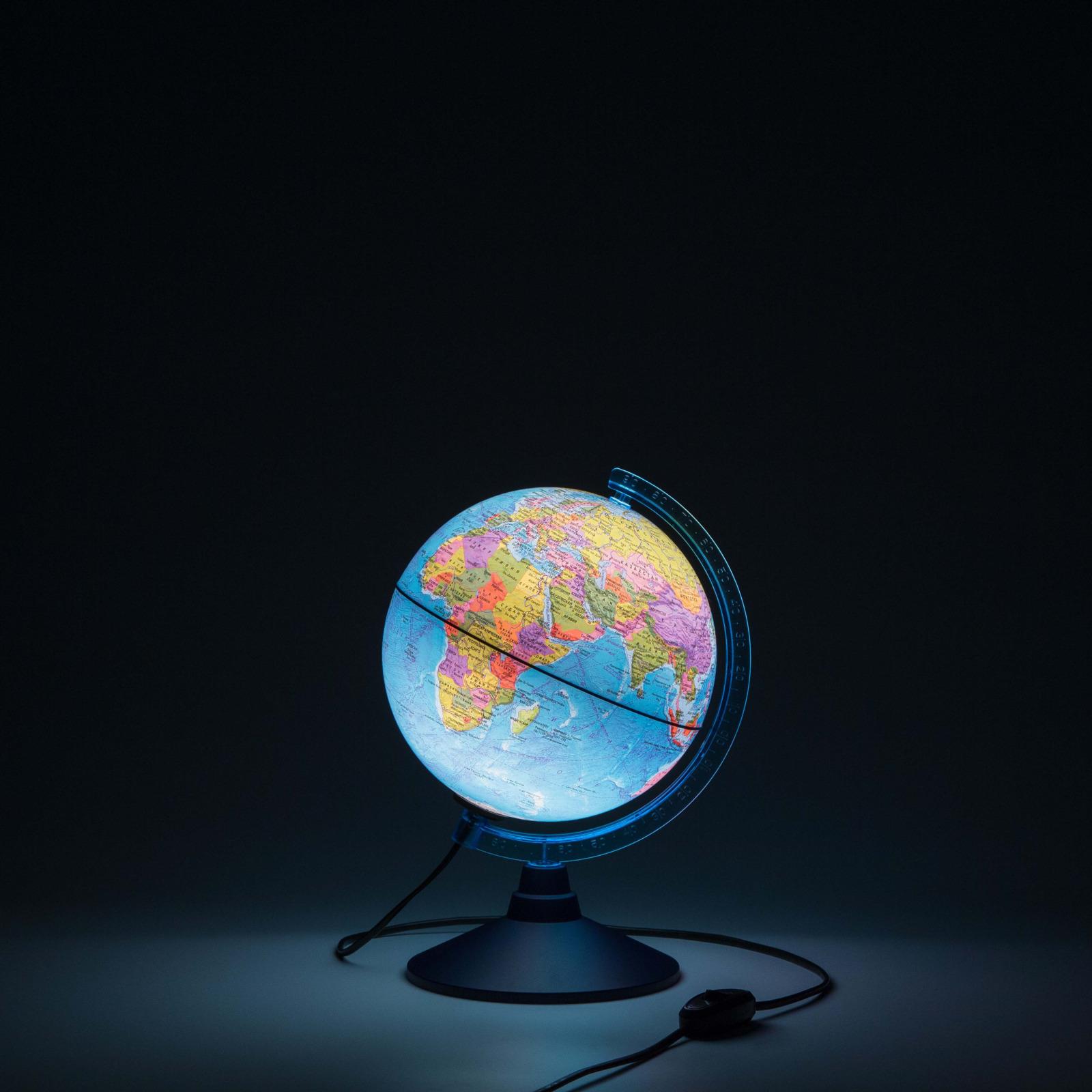Глобус двойная карта с подсветкой диаметр 25 см