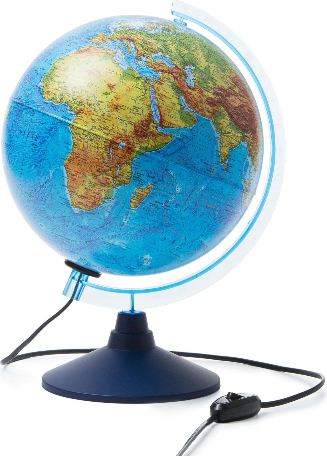 Globen Глобус Земли физико-политический с подсветкой диаметр 250 мм цены онлайн