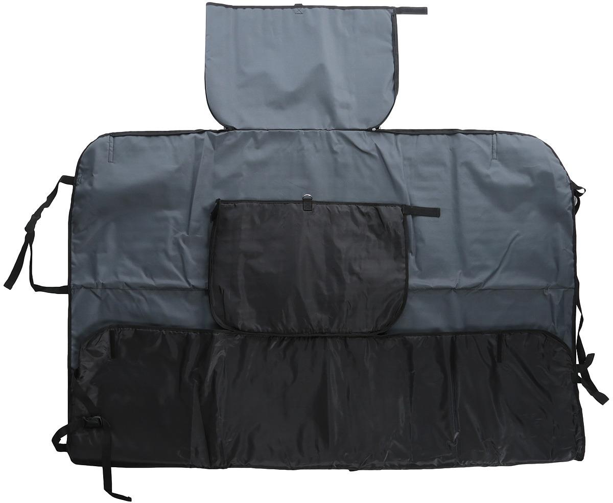 Автогамак Auto Premium Премиум, для перевозки курпных собак от 20 кг, 3 слоя, цвет: серый. 77133 автогамак auto premium для перевозки некрупных собак