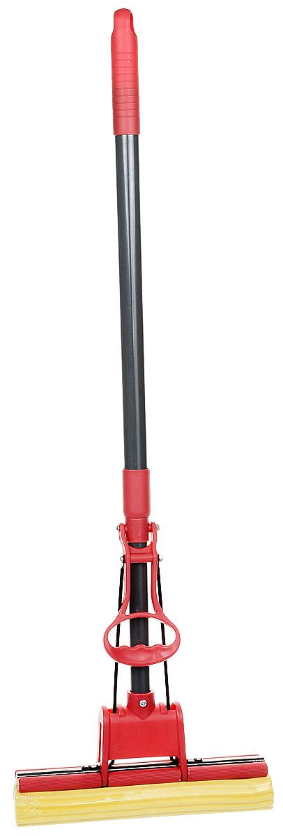 Швабра HITT Нелла, с отжимом и телескопической ручкой, длина 120 см швабра хозяюшка мила с телескопической ручкой и отжимом цвет в ассортименте kf 02