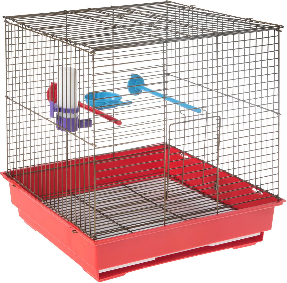Клетка для птиц Велес Lusy Bird, разборная, цвет: золотистый, 30 х 42 х 40 см велес а тайна горгульи