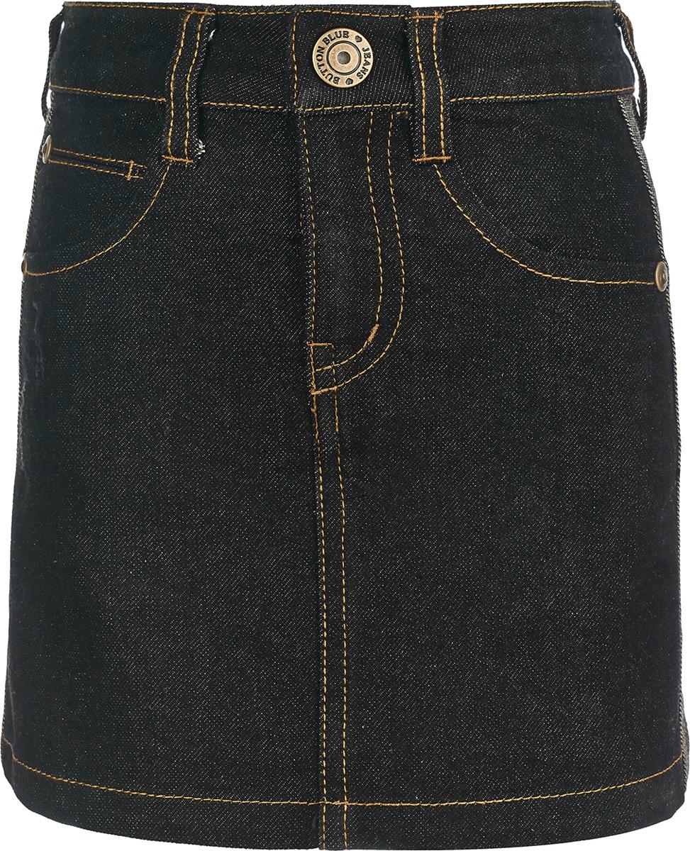 Юбка Button Blue купить короткую джинсовую жилетку