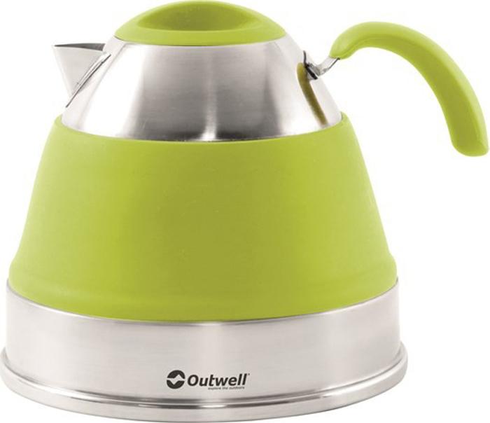 Чайник походный Outwell Collaps Kettle, цвет: светло-зеленый, 2,5 л. 650311650311Складной чайник с гибкими силиконовыми элементами.