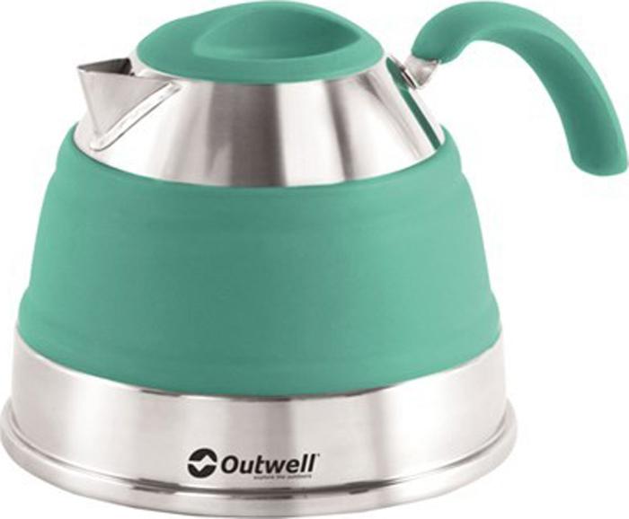 Чайник походный Outwell Collaps Kettle, цвет: бирюзовый, 1,5 л. 650649 стул outwell fergus 410066