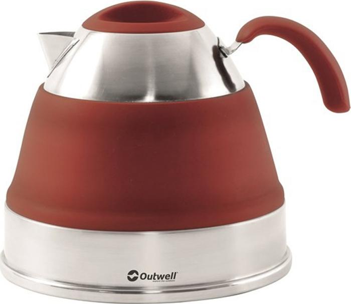 Чайник походный Outwell Collaps Kettle, складной, цвет: коричнево-красный, 2,5 л. 650713 цена