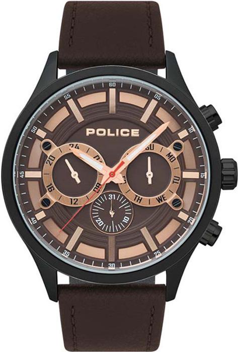 Наручные часы мужские Police, цвет: коричневый. PL.15412JSU/12 все цены