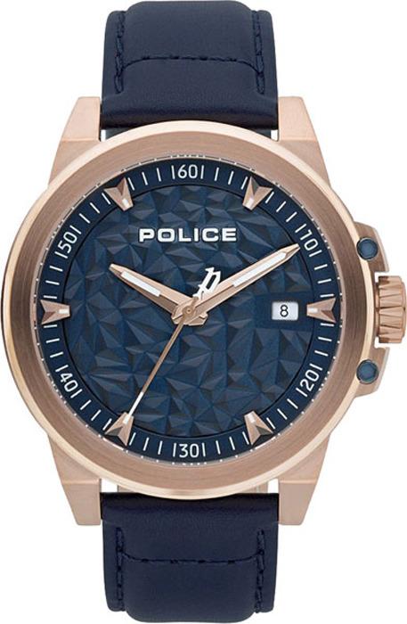 Наручные часы мужские Police, цвет: синий. PL.15398JSR/03 мужские часы police pl 15305jsu 03mm
