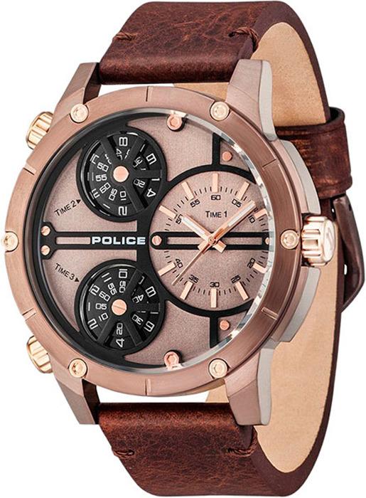 Наручные часы мужские Police, цвет: коричневый. PL.14699JSBN/12 все цены