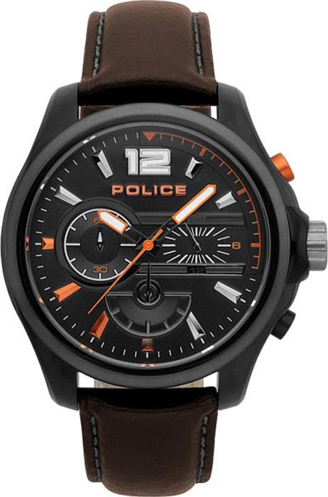 Наручные часы мужские Police, цвет: коричневый. PL.15403JSBU/02 все цены