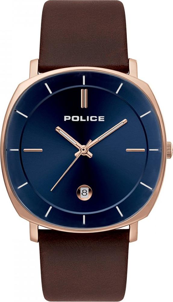 Наручные часы мужские Police, цвет: коричневый. PL.15099JSR/03A мужские часы police pl 15047jsr 03